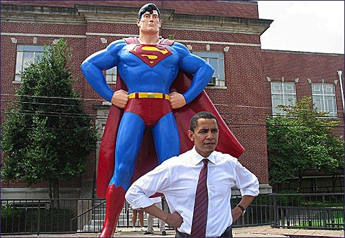Geek President Obama Superman