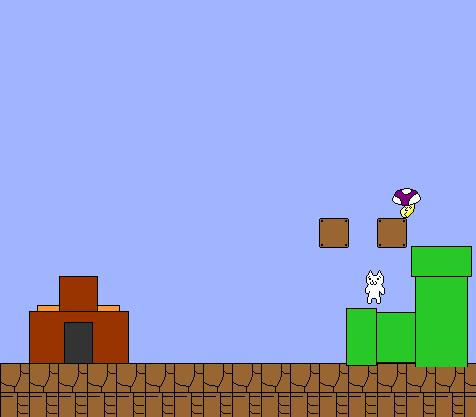 Cat Mario Game Screen